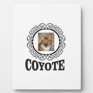 Plaque Photo coyote rond