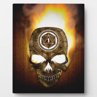 Plaque Photo crâne critique de la mort de l'échouer d20