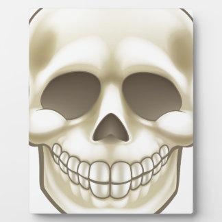 Plaque Photo Crâne de bande dessinée