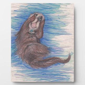 Plaque Photo Créature d'animal sauvage de loutre de mer petite