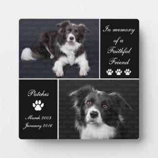 Plaque Photo Dans le mémorial de photo de chien de mémoire