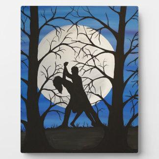 Plaque Photo Danseurs romantiques de silhouette