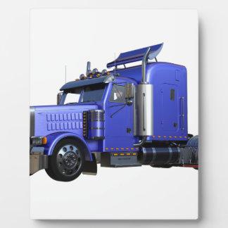 Plaque Photo De bleu camion de remorque métallique de tracteur