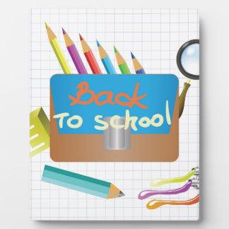 Plaque Photo De nouveau à l'école