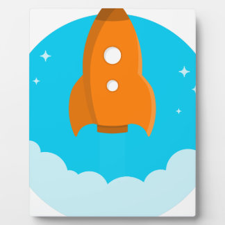 Plaque Photo Décollage de bateau de Rocket