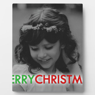 Plaque Photo Demoiselle de honneur de jeunes de Joyeux Noël