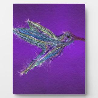 Plaque Photo Dessin de colibri