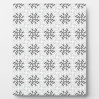 Plaque Photo Dessin géométrique gris, blanc et noir