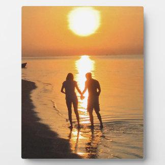 Plaque Photo Deux amants au lever de soleil