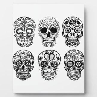 Plaque Photo Dia de los Muertos Skulls (jour des morts)