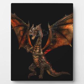 Plaque Photo Dragon fire