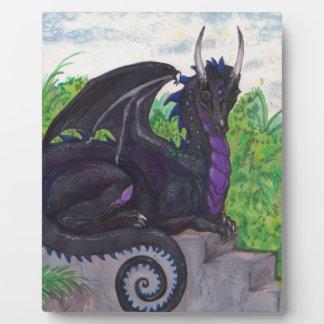 Plaque Photo Dragon noir pourpre