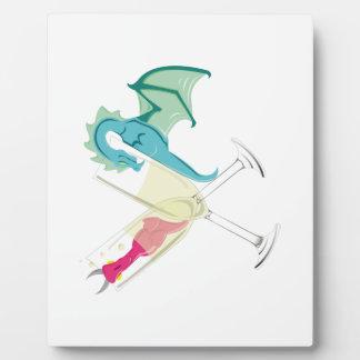 Plaque Photo Dragons ivres