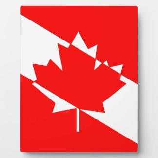 Plaque Photo Drapeau canadien de plongeur autonome