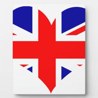 Plaque Photo Drapeau de coeur d'Union Jack