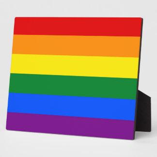Plaque Photo Drapeau de gay pride d'arc-en-ciel