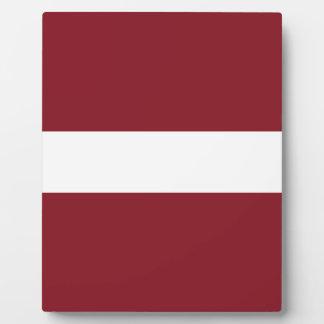 Plaque Photo Drapeau de la Lettonie