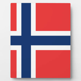 Plaque Photo Drapeau de la Norvège