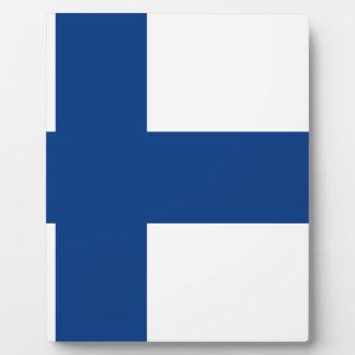 Plaque Photo Drapeau de lippu de la Finlande - du Suomen -