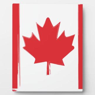 Plaque Photo Drapeau du Canada