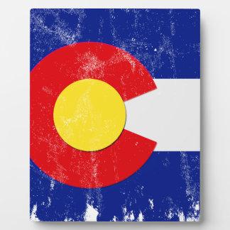 Plaque Photo Drapeau du Colorado affligé