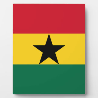 Plaque Photo Drapeau du Ghana - drapeau ghanéen - drapeau