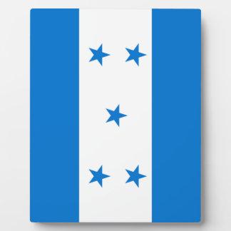Plaque Photo Drapeau du Honduras - le Bandera Hondureña De
