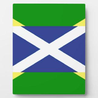 Plaque Photo Drapeau écossais jamaïcain - Jamaïque - Ecosse