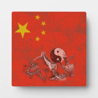 Plaque Photo Drapeau et symboles de la Chine ID158