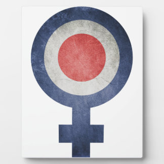Plaque Photo drapeau France Fille