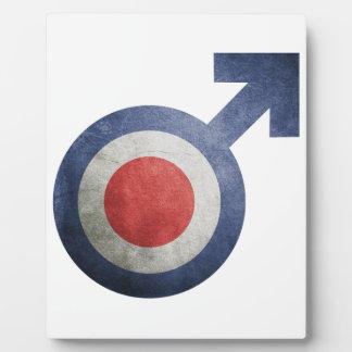 Plaque Photo drapeau france homme