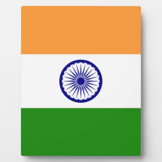 """Plaque Photo Drapeau indien """"Tiranga """" de bonne couleur"""