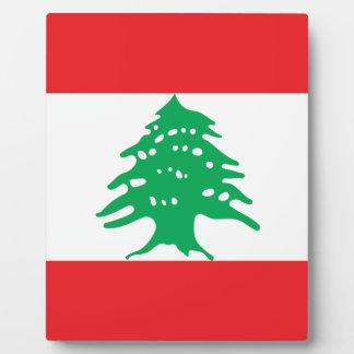 Plaque Photo Drapeau libanais - drapeau de علملبنان du Liban