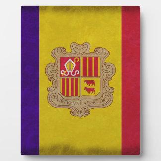 Plaque Photo Drapeau principauté Andorre