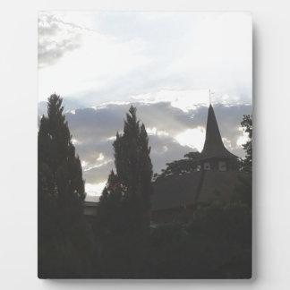 Plaque Photo Église de coucher du soleil