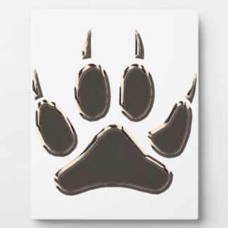 Plaque Photo empreinte de pas de loup