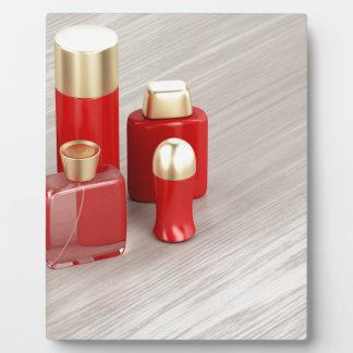 Plaque Photo Ensemble des produits cosmétiques des hommes