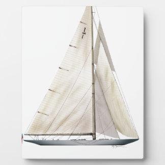 Plaque Photo entreprise 1930 de yacht