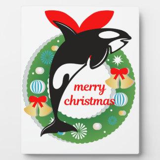 Plaque Photo épaulard de Joyeux Noël