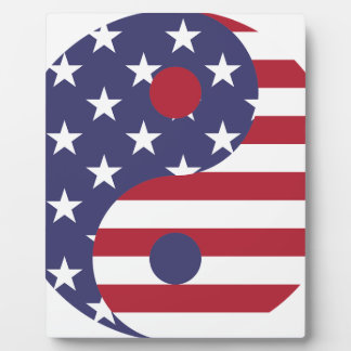 Plaque Photo Équilibre d'Asiatique d'art abstrait de drapeau de
