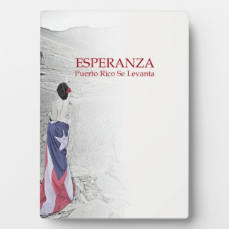 Plaque Photo Esperanza - image avec le texte