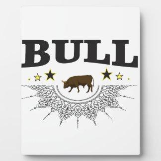 Plaque Photo étiquette brun de taureau