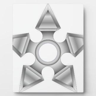 Plaque Photo Étoile pointue de Ninja
