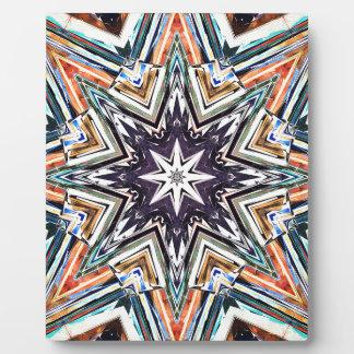 Plaque Photo Étoile texturisée colorée