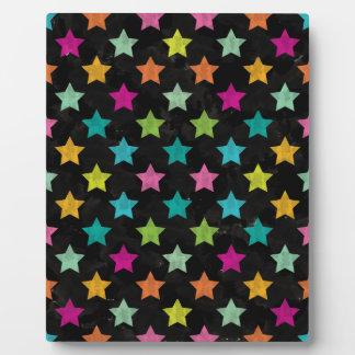 Plaque Photo Étoiles colorées III