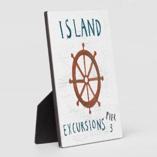 Plaque Photo Excursions côtières d'île de l'art |