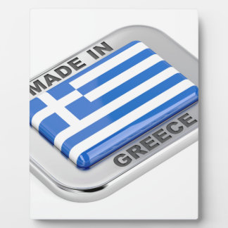 Plaque Photo Fait dans l'insigne de la Grèce