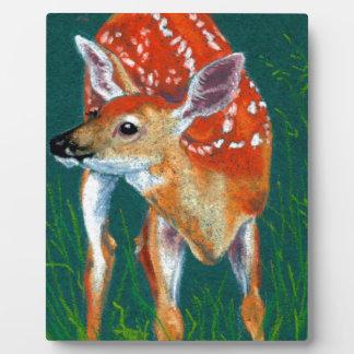 Plaque Photo Faune secrète de faon de cerfs communs
