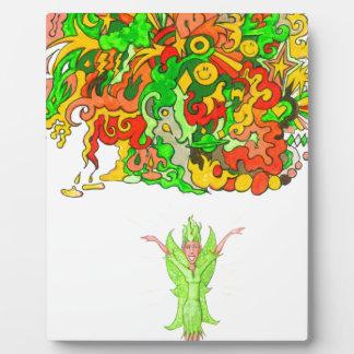 Plaque Photo Fée verte et amusement magique
