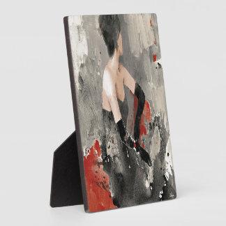 Plaque Photo Femme vintage sauvage d'aquarelle d'Apple |